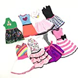 #7: Ocamo Doll's Fashionable Clothing Set Casual One-piece Dress for Barbie Doll Style Random