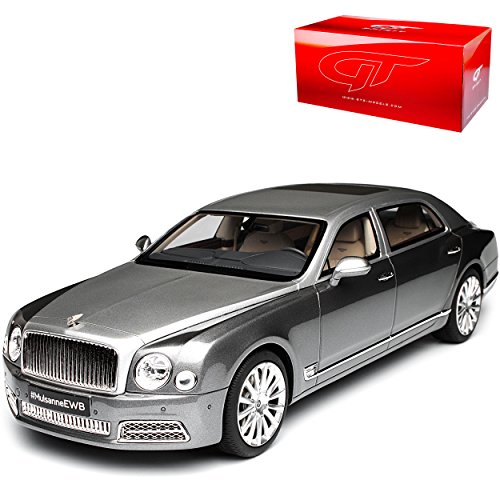 GT Spirit Bentley Mulsanne EWB Langversion Limousine Grau 2. Generation Ab 2009 Nr 148 1/18 Modell Auto (Bentley Modell)