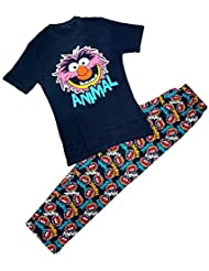 Hommes Officiel The Muppets ANIMAL Haut T-Shirt Long Coton Pyjama Ensemble tailles S M L XL