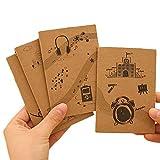 DaoRier 10 Pcs Mini Portable Bloc-Notes Cahier Simple Rétro Journal Notebook Cadeau pour Elève des Ecoles Primaires