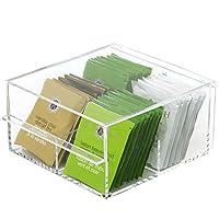 Tea Box- Contemporary Compact Acrylic Organizer Tea Bags