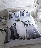 Baby Pinguini Copripiumino Matrimoniale 2federe Set di biancheria da letto simpatici animali, King