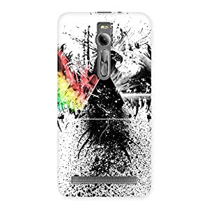Special Prism Eagle Multicolor Back Case Cover for Asus Zenfone 2