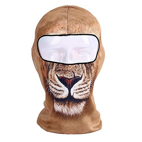 3D Tier Sturmhaube Ski Maske Winddicht Gesichtsmaske Motorrad Gesichtsschutz Für Männer Frauen Dünne Atmungsaktive Nackenwärmer Für Outdoor Radfahren Snowboard Wandern , Weitere Stile ( Farbe : C1 )