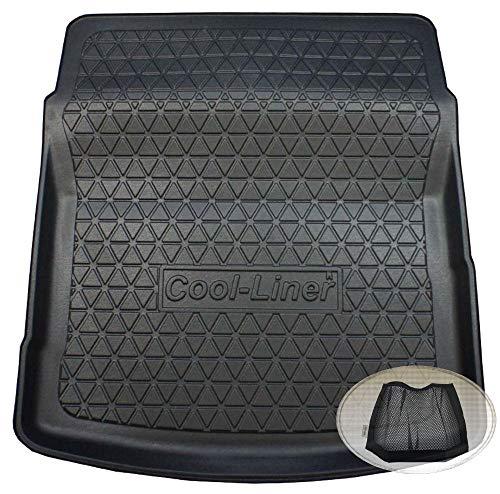 ZentimeX Z3375105 Diamanten-Design Kofferraumwanne fahrzeugspezifisch + Klett-Organizer (Laderaumwanne, Kofferraummatte)