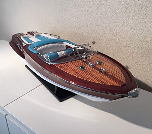 Générique modellino in legno del motoscafo riva lamborghini, 87 cm