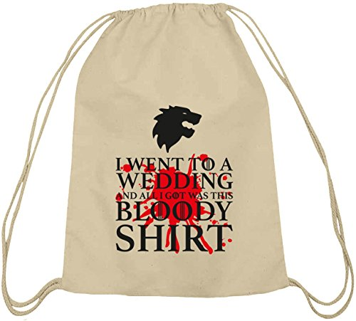 Shirtstreet24, Bloody Shirt, Cotton Nature Backpack Bag Sports Bag Nature