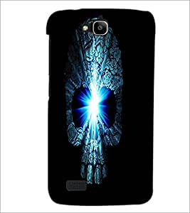 PrintDhaba Skull D-4380 Back Case Cover for HUAWEI HONOR HOLLY (Multi-Coloured)