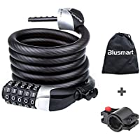 Blusmart BIC00028EFSRCUK, Blusmart Bike Lock Heavy Duty High Quality With 5-Digit Resettable Number Code 180cm 12mm