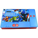 Toyvala Avengers Gadget Pencil Box Best Quality With Calculator--Jumbo Pencil Box-Kids Multi Purpose