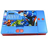 Toyvala Avengers Gadget Pencil Box Best Quality with Calculator--Jumbo Pencil Box-Kids Multi Purpose
