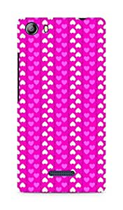 Amez designer printed 3d premium high quality back case cover for Micromax Canvas 5 (E481) (Romantic Pink n White Color Hearts)