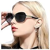 FIMILU Gafas de Sol Polarizadas de Gran Tamaño para Mujeres Clásicas Moda Elegante Diseño de Diamantes de Imitación Para Conducir Compras Viajar