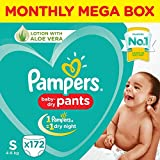 Pampers Diaper Pants Monthly Box Pack, Small, 172 Count