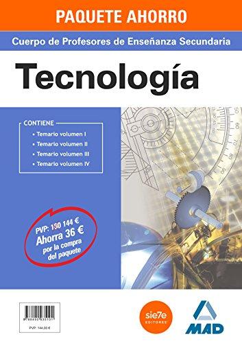 PAQUETE AHORRO TECNOLOGÍA CUERPO DE PROFESORES DE ENSEÑANZA SECUNDA
