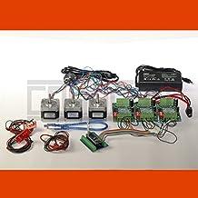 3D CNC USB Controlador de motor paso a paso Fresadora con Software, bloque de aliment., 3 x NEMA 17 (1,7 A) y 3 Fin. de Carreras