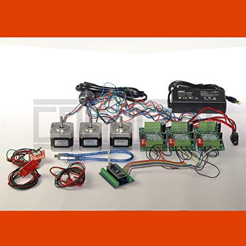 3D CNC USB Schrittmotor-Steuerung Fresadora mit Software, Netzteil, 3 x NEMA 17 Motoren (1,7 A) und 3 mechanischen Endschaltern Mechanische Software