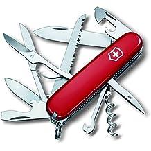 Victorinox Huntsman - Cuchillo (9,1 cm, 2,7 cm, 107g, Acero inoxidable, Rojo, Acero inoxidable)