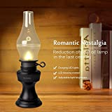 Relassy Blowing Voice Control LED Lampe Night Light Wiederaufladbare Flammenlose Retro Öl-Lampen, Dimmbare Petroleumlampe, Nachtlicht