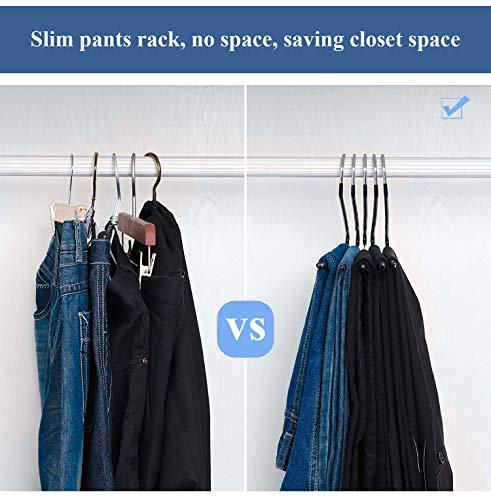 Kowth Grucce per Pantaloni Pantaloni Jeans per Vestiti per Armadio Asciugamani Antiscivolo Colorato Acciaio Inossidabile in Acciaio Inox Sciarpe salvaspazio Tipo S Large