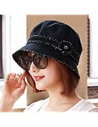 ERLINGSAN-MZ Cappellino Cappello Donna Estate Berretto Cappello Vasca  Cappello Ampio Cappello Spettacolo nero c99f36582dad