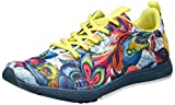 Desigual Shoes_Training S, 37, 4153 Shaded Spruce, Zapatillas Deportivas para Interior para Mujer, Verde EU