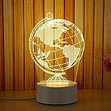 Edited 3D Lampe Optische Illusion LED Täuschung Nachtlicht Stimmungslicht Schreibtisch Lampe Deko Tischleuchte mit Acryl Flat in 3 Lichtfarbenmodi, ideal als Festival oder Geburtstagstag Geschenk