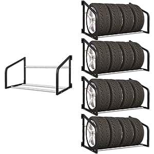 4er reifenregal f r 16 reifen wandregal regal wandhalterung reifenhalter reifenst nder amazon. Black Bedroom Furniture Sets. Home Design Ideas