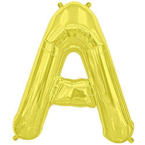 NorthStar Balloons-Ballon Aluminium Lettre A De 41Cm Non Gonflé De Couleur Or