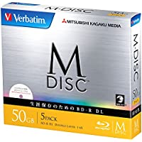 1000años Archival Verbatim Blu-ray M-Disc BD-R DL doble capa de 50GB 6x velocidad–5unidades de inyección de tinta imprimible