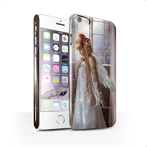 Officiel Elena Dudina Coque / Clipser Brillant Etui pour Apple iPhone X/10 / Étang Magique Design / Fées Élégantes Collection Robe Fleur/Mariée