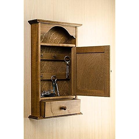 Luce marrone cassetto chiavi casa Hanger Holder 6 ganci gabinetto