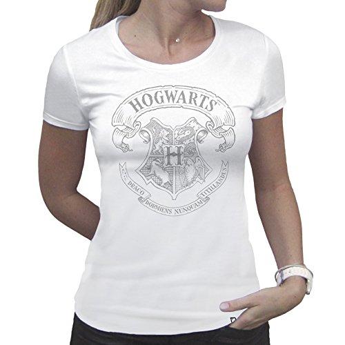tex368_ XS Harry Potter Hogwarts T-shirt für Frau (XS) (Harry Potter Kostüme Frau)