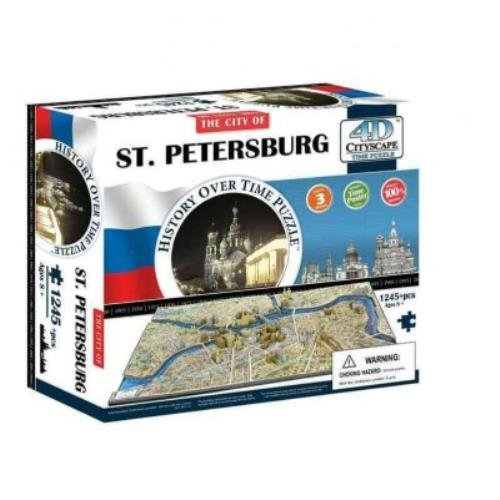 The City of St. Petersburg 4d Cityscape Time: 1,245 Pieces