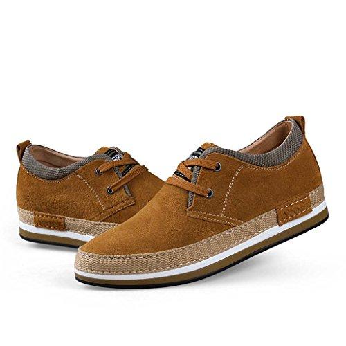 ZXCV Scarpe all'aperto Scarpe da uomo di piccola taglia Stealth all'interno delle scarpe aumento scarpe casual moda scarpe da lavoro fatte a mano Cachi