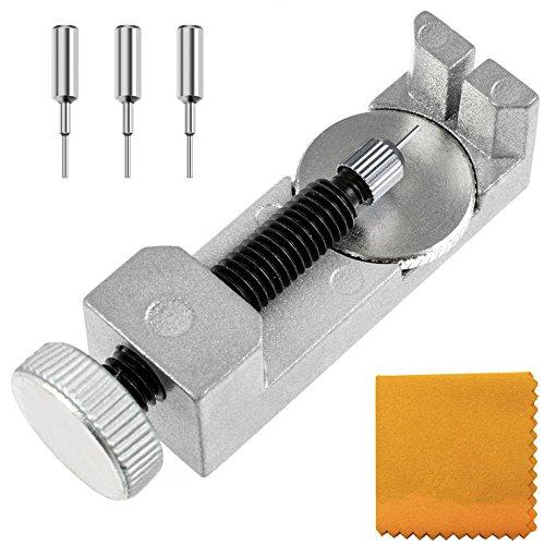 Zacro Montre Bracelet Lien Pin Remover Kit de Réparation d'Outils de Watch Band pour les Horlogers avec 3 Pins Supplémentaires