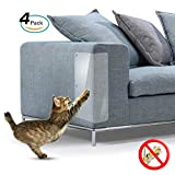 Galaxer 4 Piezas de ProteccióN Anti-Arañazos Transparente Gato Flexible Resistente a Los Arañazos para Gatos con Alfileres Que Protegen Los Muebles para Que No se Rayen. (Las uñas, 4 Pack)