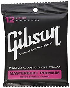 Gibson Gear SAG-BRS12 Masterbuilt Premium 8020 Brass Strings