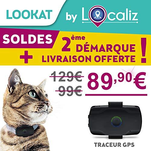 LOCALIZ Lookat Traceur GPS pour Chat et Petit Chien