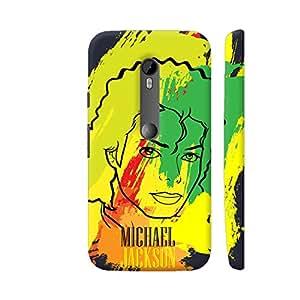 Colorpur Michael Jackson Painting On Black Artwork On Motorola Moto G3 Cover (Designer Mobile Back Case)   Artist: Designer Chennai