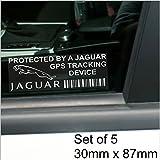 5 x Jaguar GPS Tracking Device Security WINDOW Stickers 87x30mm-F-Type,XJ12,XJ6,XJ8,E-Type-Car,Van Alarm Tracker