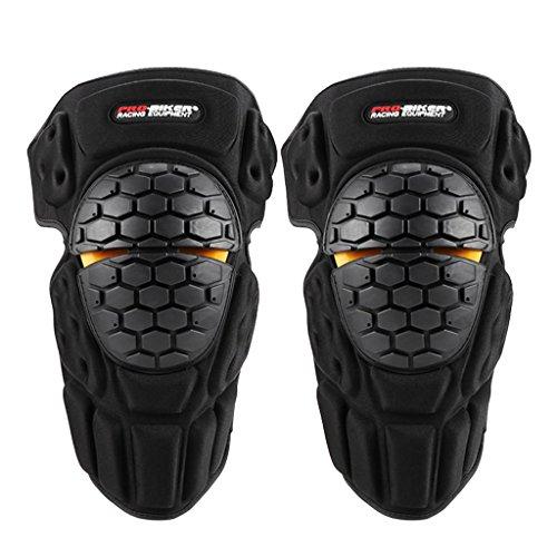 Qiilu 2Pcs Genouill/ères Professionnel Protection Gardes /Équipement Pour Motocross Moto V/élo ATV Adultes En Acier Inoxydable