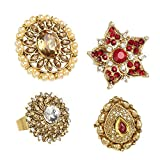 Best Rings For Teen Girls - Bindhani Gold Plated Stylish Party Wear Traditional Finger Review