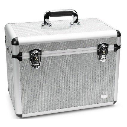 Beauty Case Silber (VANITY Strass Strass Silber Vanity Beauty Case)