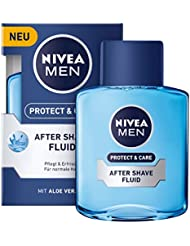 NIVEA Men, 3er Pack After Shave Fluid für Männer, 3 x 100 ml Flasche, Protect & Care