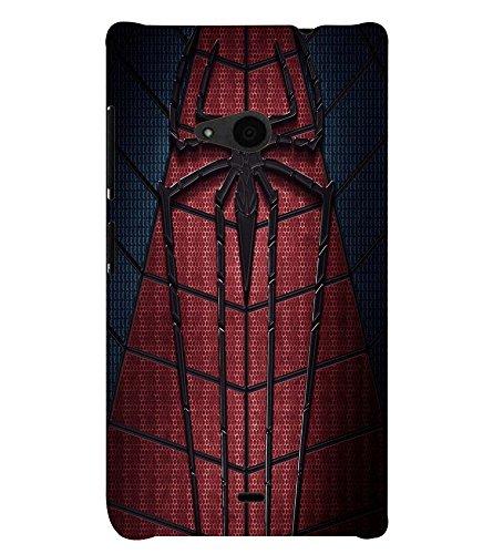 Printvisa Spider Man Web Back Case Cover for Nokia Lumia 535
