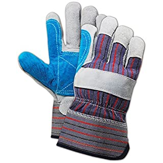 KINCO INTERNATIONAL TB245DPT LG Gry Split LTHR Glove, Grey, L