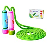 Homello Verstellbare Springseil für Kinder, Springen Seil mit Cartoon Holzgriff und Baumwollseil, ideal für Fitness Training/Spiel/Fett Brennen Übung