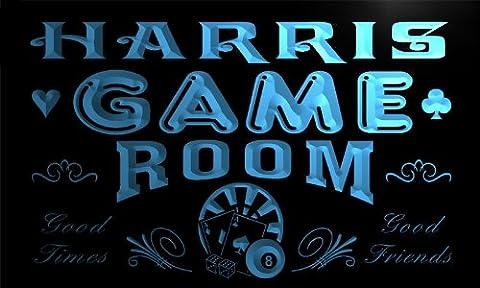 PL1015-b Harris Game Room Man Cave Beer Bar Neon Light Sign