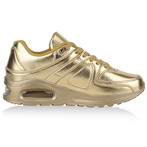 Damen Herren Unisex Laufschuhe Neon Runners Casual Schuhe Sportschuhe Gold Berkley
